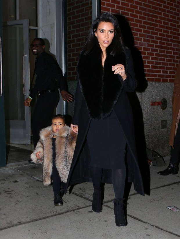 45164a546920 Kim Kardashian Dresses Daughter North West in Fur