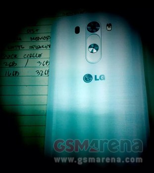 Allegedly Leaked Photo Of LG G3s Back Cover