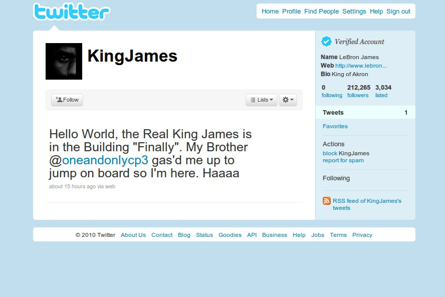 LeBron James Joins Twitter 19ab1c5e3