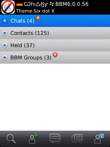 Leaked Screenshots of BlackBerry Messenger 6 0 Available