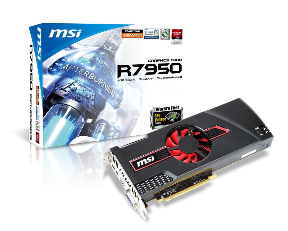 MSI Releases Its Own Radeon HD 7950 Graphics Cards