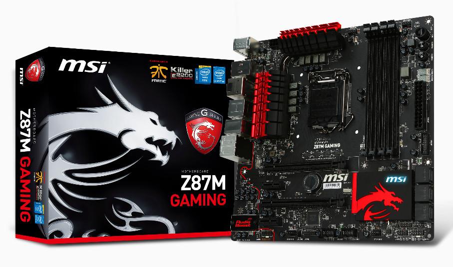 MSI Z87M Motherboard Has Killer Ethernet Chip for Online
