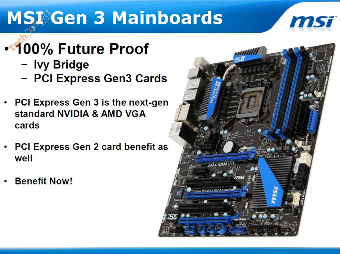 MSI to Release Six LGA 1155 Motherboards with PCI Express ...