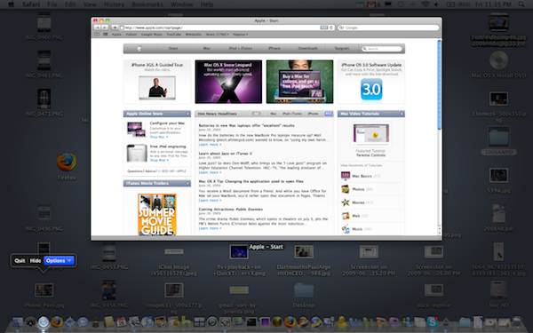 Mac OS X 10 6 Snow Leopard Build 10A394 Activates Dock Expose