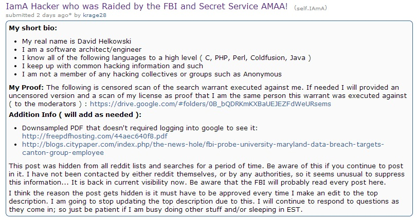 Man Who Got Raided After Hacking University of Maryland Does