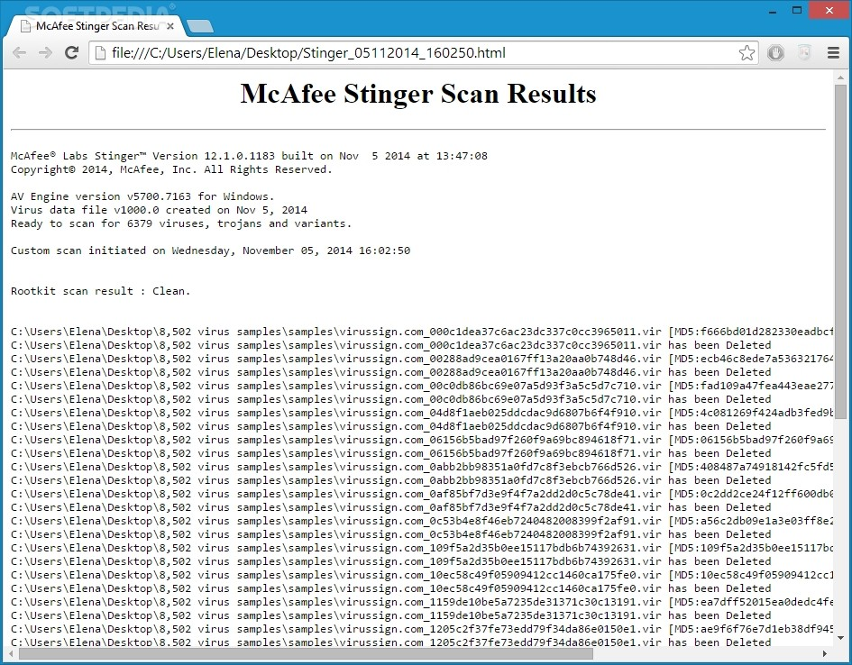 McAfee Stinger Review – On-Demand Virus Scans with Splendid