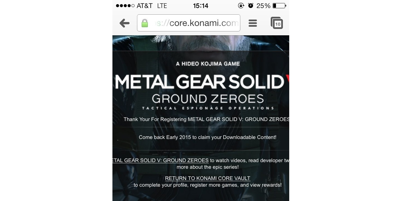 Metal Gear Solid 5: The Phantom Pain Coming in Early 2015, Konami