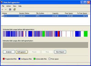 How do I run Microsoft Defrag