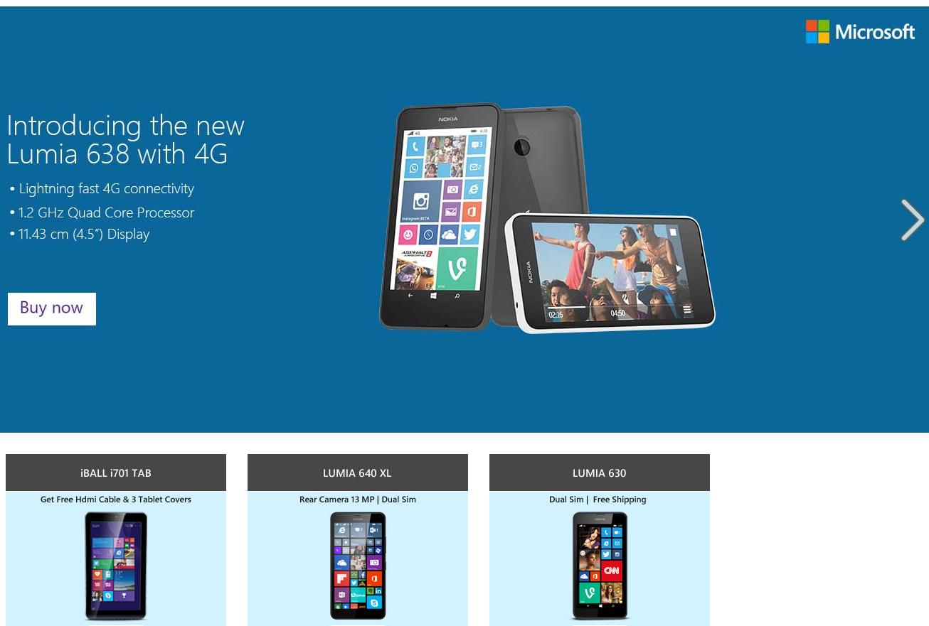 0bf7f250f Microsoft Launches Online Store on Indian E-Commerce Platform Snapdeal