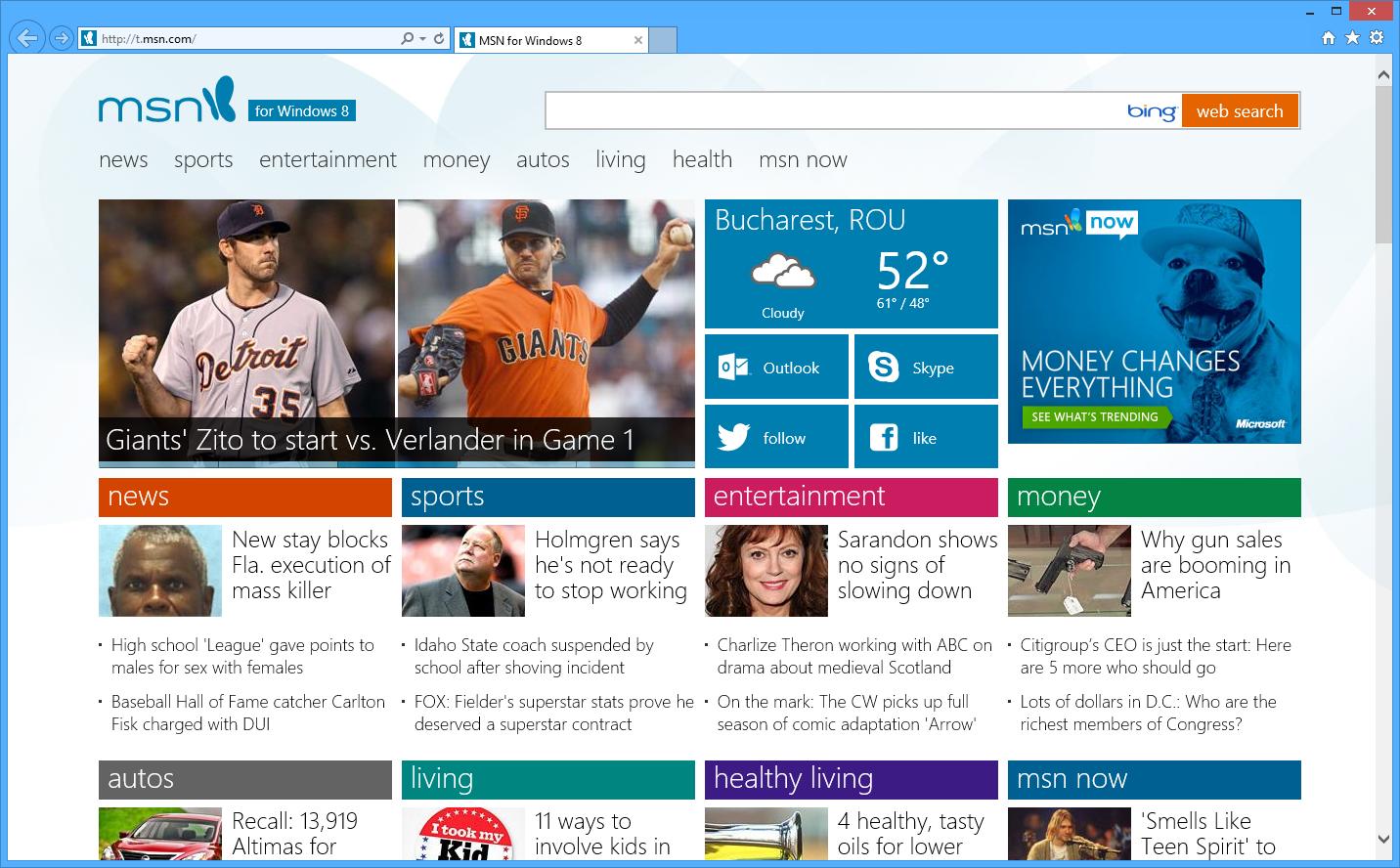 microsoft launches windows 8 inspired msn website