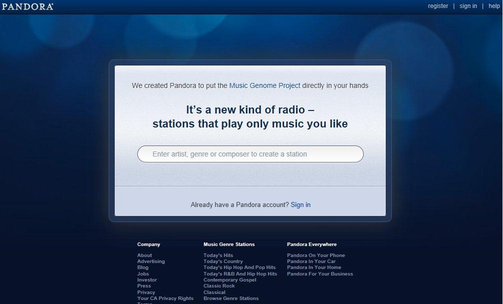 Microsoft Planning to Buy Pandora Internet Radio Company