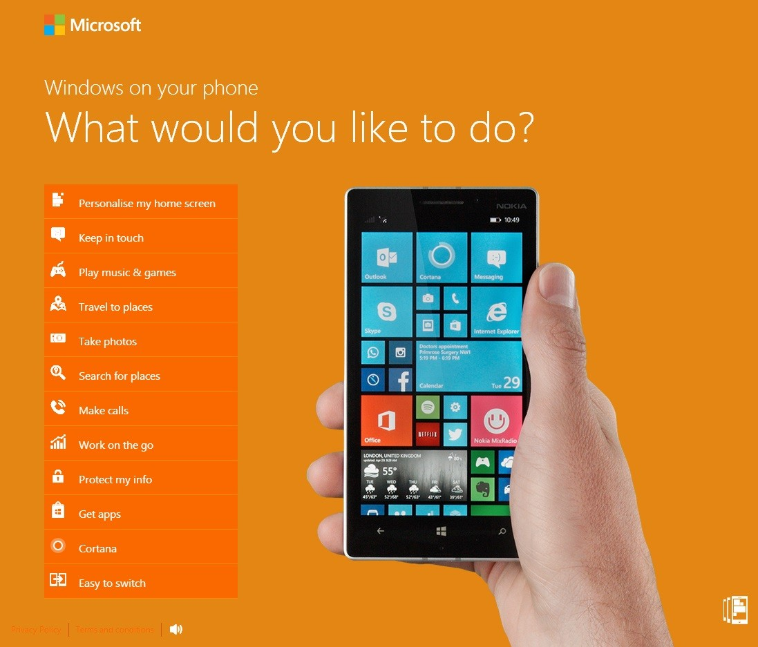 Windows Phone 8 1 Interactive Demo Site