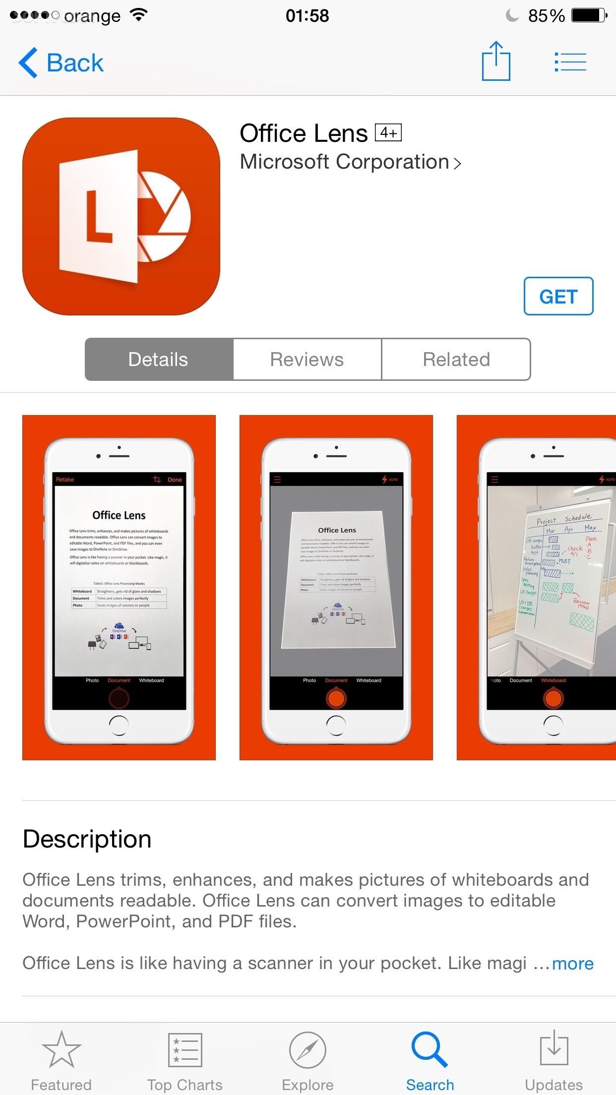 Microsoft Releases Office Lens Pocket Scanner App for iPhone