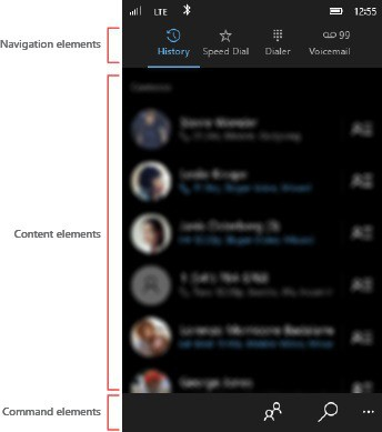 Microsoft Shows New Phone App, Contact, Call History UI in