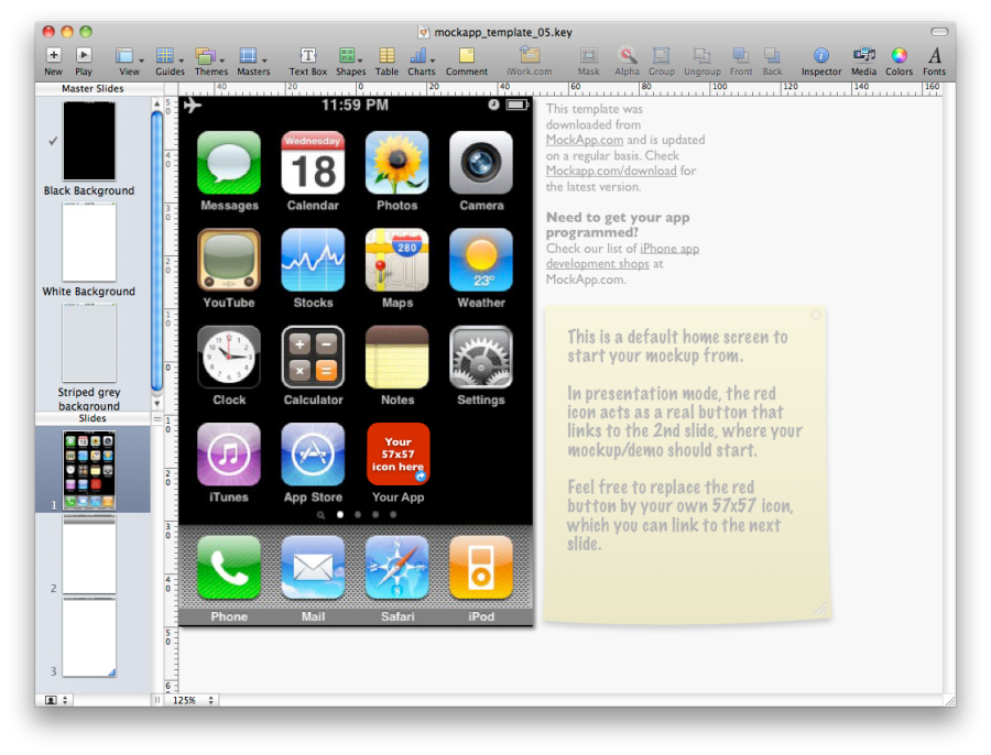 MockApp Posts Free iPhone Keynote Templates - Download Here