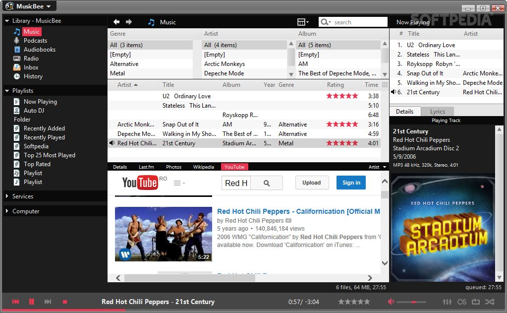 MusicBee Review: Audio Player for Large Music Collections