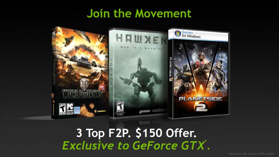 NVIDIA Bundles $75-$150 MP Games with GeForce GTX Video