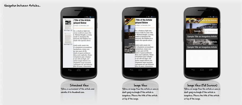 Native Firefox for Android Reader Mode Mockups