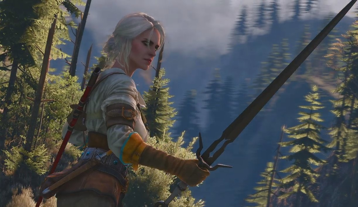 Ciri Enters Combat In The Witcher 3