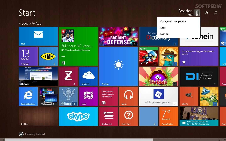 Live tiles on Windows 8.1