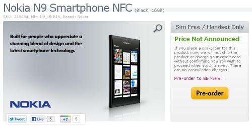 Nokia N9 to Be Available in UK via Expansys, Price to Be
