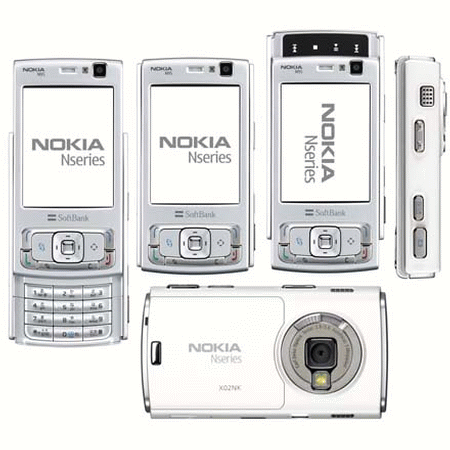 Blue Nokia In Too White And N95