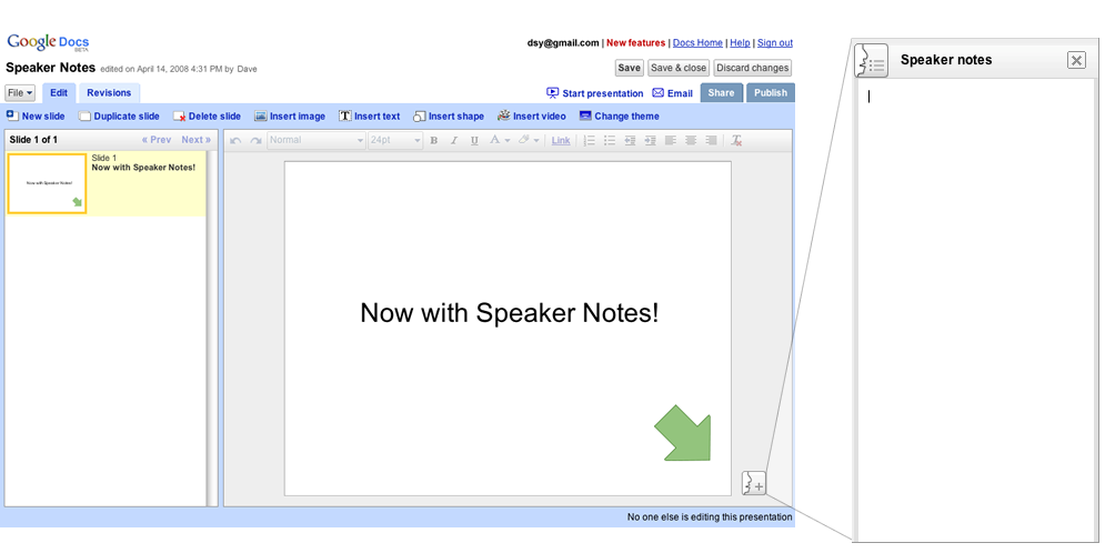 now you can insert youtube clips in google docs presentations