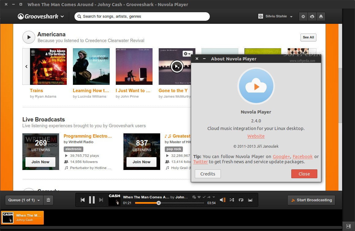 Nuvola Player 2 4 0 Is a Cloud Music Player