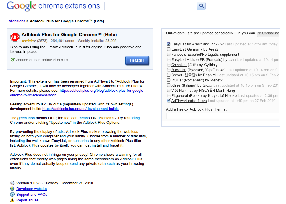 Official Adblock Plus Add-on Available Now for Google Chrome