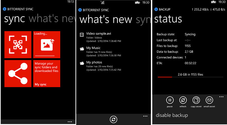 Official BitTorrent Sync App Arrives on Windows Phone – Free Download