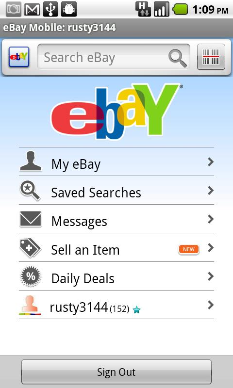 Official Ebay For Android App Updated With Selling Support Available Only In Us And Uk