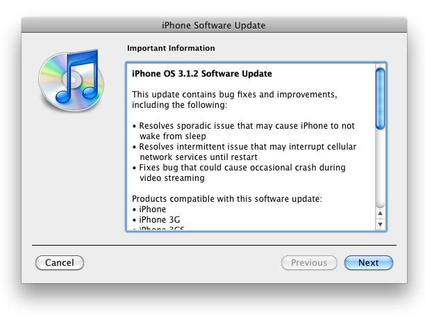 Official iPhone 3 1 2 IPSW Download Breaks Ultrasn0w Unlock