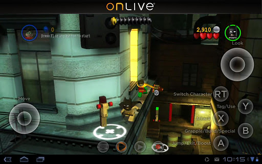 OnLive App Updated with Xperia PLAY Slide-out Game Controls