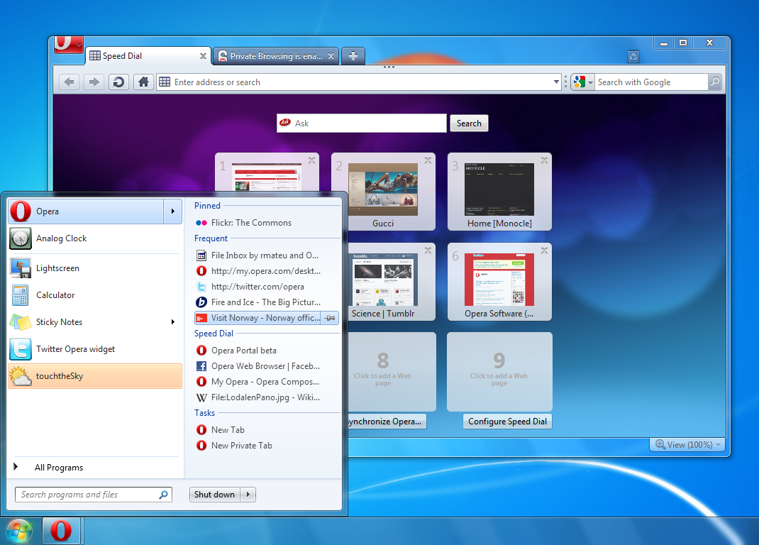 Opera 10 50 Final for Windows 7 Download Here