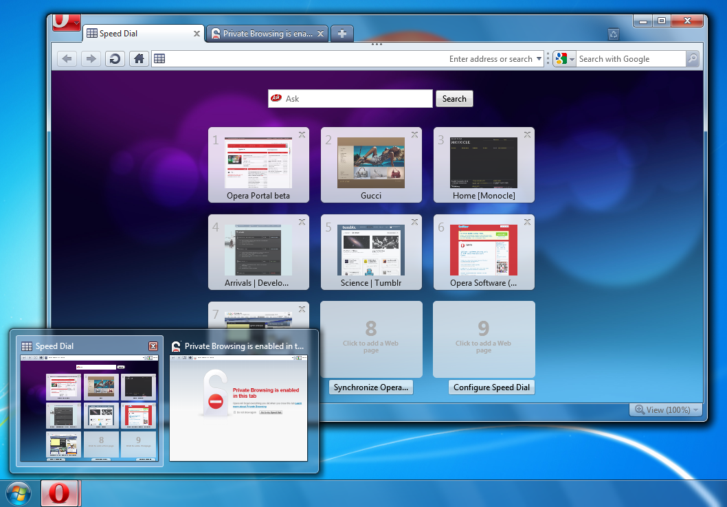 Opera For Windows 7