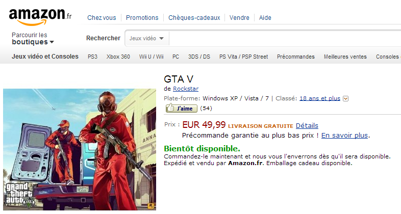 PC Version of Grand Theft Auto V Leaked by Retailers, Out on