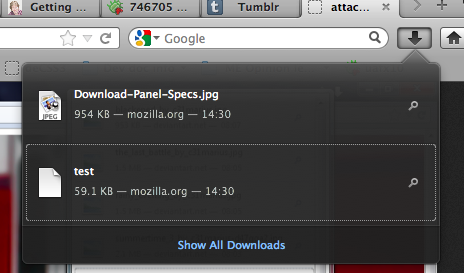 PDF JS and Download Manager Panel Pushed to Firefox 15