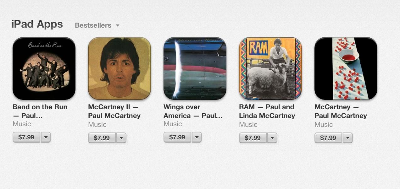 Paul McCartney IPad Apps