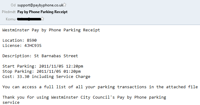 pay by phone parking receipt emails spread malware