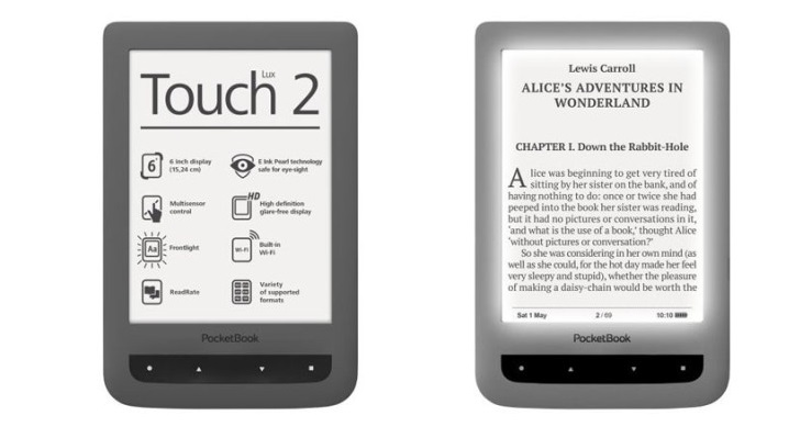 PocketBook Touch Lux 2 with Ergonomic Design, E-Ink Pearl Display