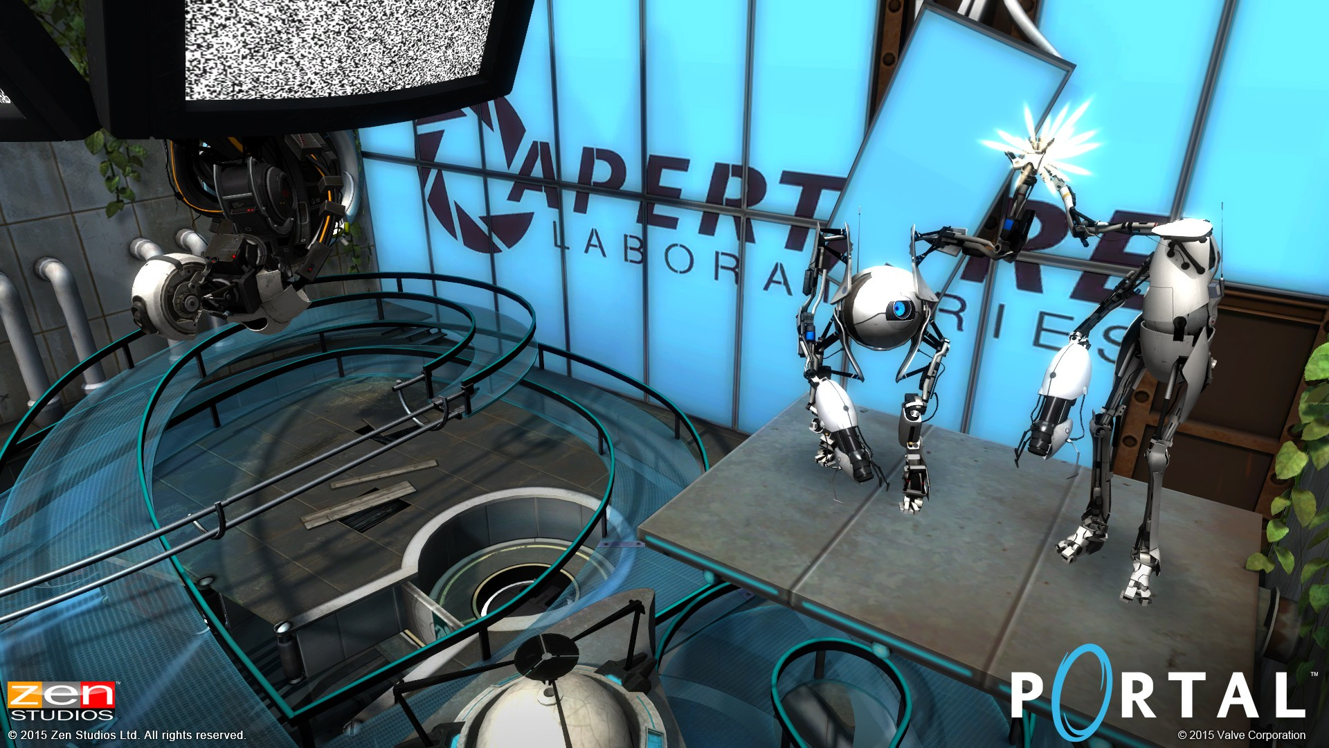 Portal comes to zen pinball includes chell wheatley and glados portal pinball aperture look voltagebd Images