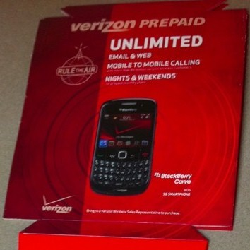 Prepaid Droid, Palm and Blackberry Phones Available from Verizon