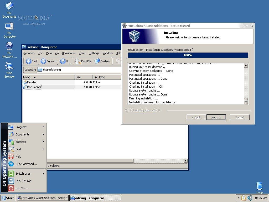 Q4os 0 5 11 Linux Distro Is An Almost Perfect Clone Of Windows Xp Screenshot Tour