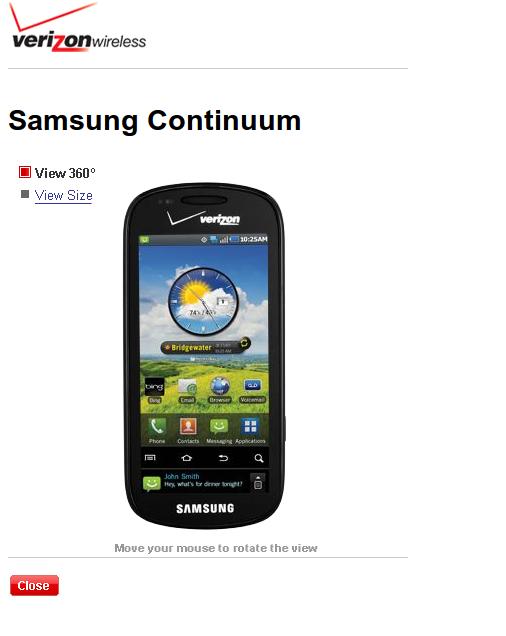 samsung continuum user manual appears on verizon s website rh news softpedia com