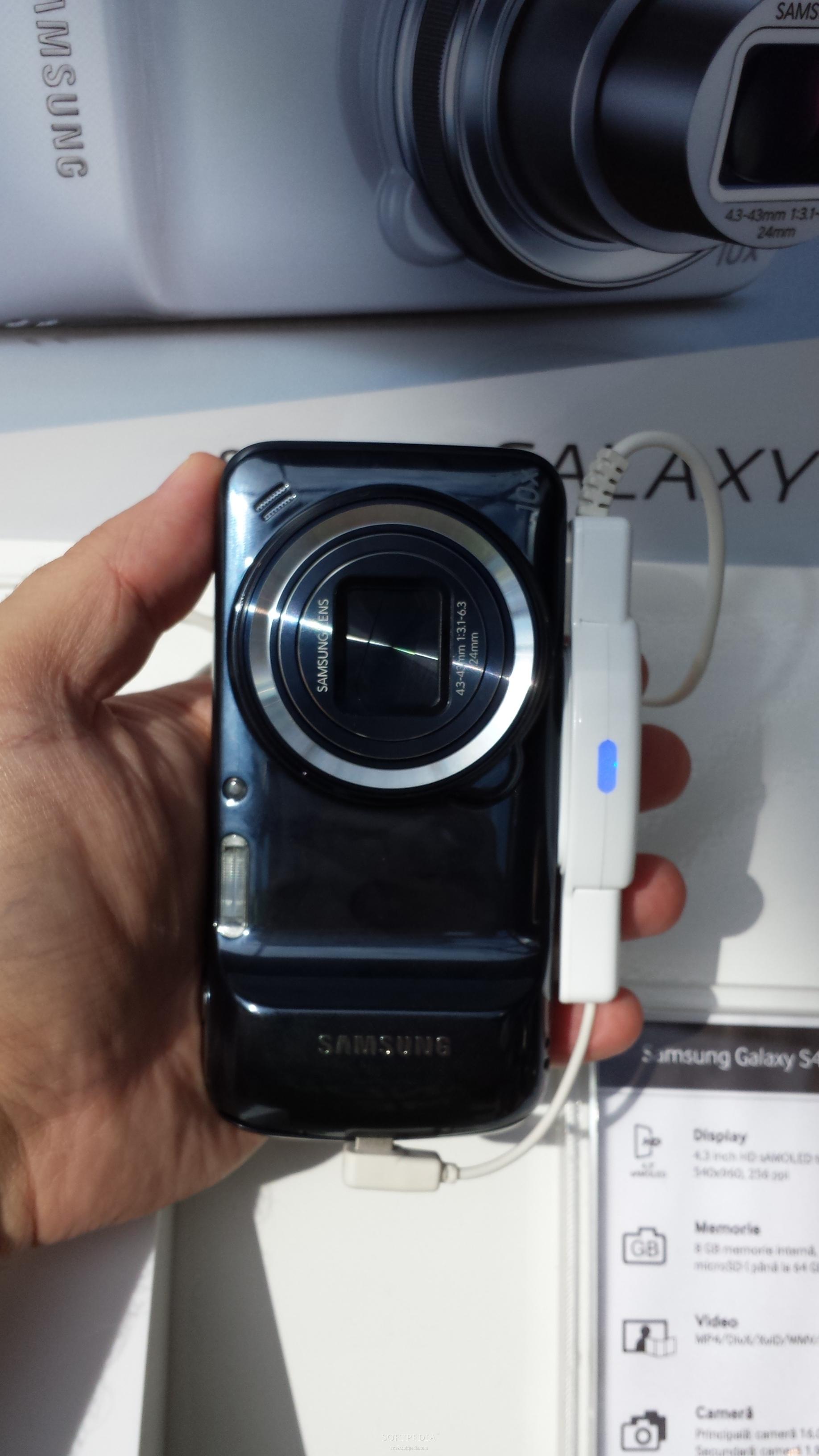 Samsung Launches Galaxy S4 Zoom In Romania Black