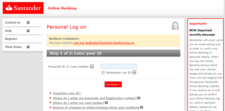 Beware Of Fake Santander Login Pages