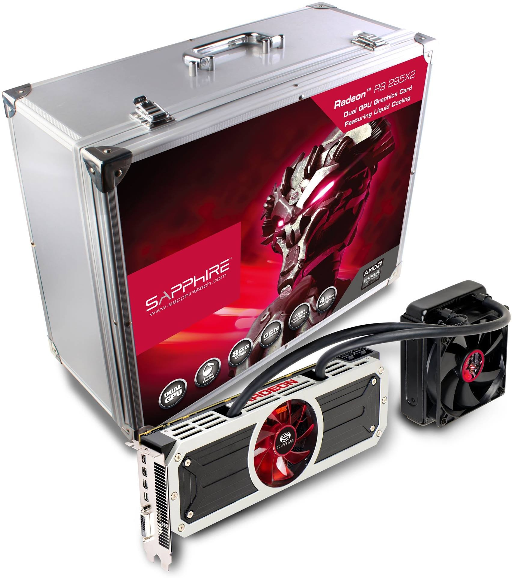 Sapphire Releases Radeon R9 295 X2 Dual-GPU Graphics Card, Briefcase