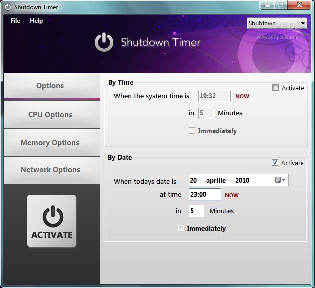 shutdown timer 2.5.0.15