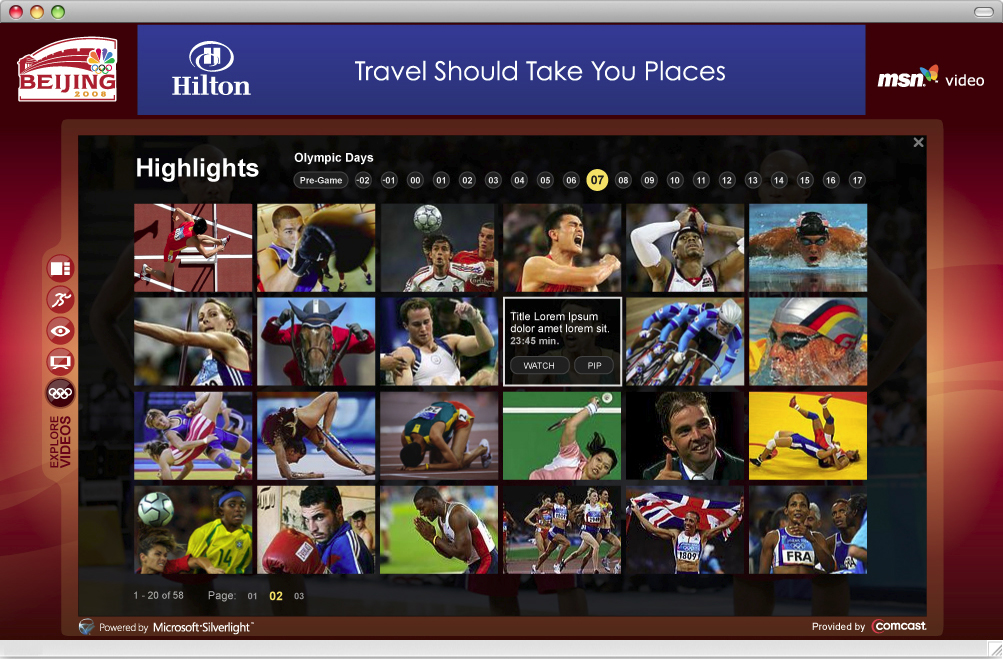 video silverlight msn