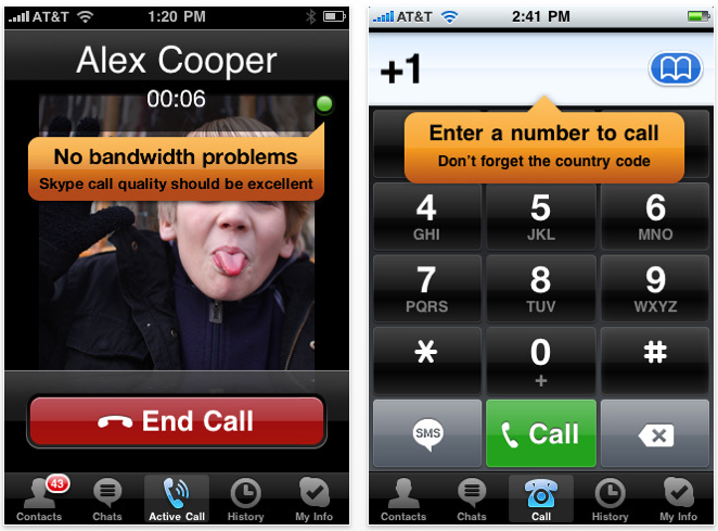 Skype 2 0 for iPhone OS Now Supports 3G Calls